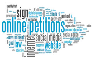 Online petition legal issues